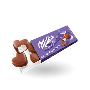 Milka Ice Cream Hearts